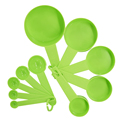 10pcs 7 Color Measuring Cups And Measuring Spoon Scoop Silicone Handle Kitchen Measuring Tool FreeShipping preview-3