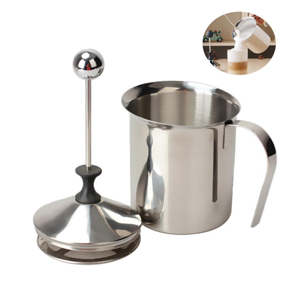 400/800ML Manual Milk Frother Stainless Steel cappuccino Milk Creamer Milk Foam Mesh Coffee Foamer Creamer Kitchen Applicance