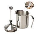 400/800ML Manual Milk Frother Stainless Steel cappuccino Milk Creamer Milk Foam Mesh Coffee Foamer Creamer Kitchen Applicance preview-1