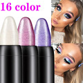 Pearlescent silkworm eyeshadow pen lasting waterproof and not blooming Shiny pearlescent gel pen 16 color eye shadow pen preview-2