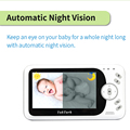 TakTark 4.3 inch Wireless Video Baby Monitor Sitter portable Baby Nanny Security Camera IR LED Night Vision intercom preview-3