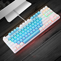 Gaming Mechanical Keyboard 87 keys Game Anti-ghosting Blue Switch Color Backlit Wired Keyboard For pro Gamer Laptop PC preview-1