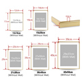 Modern Gold Aluminum Photo Pictures Frames 40x50 30x40cm A4 21x30 cm Wall Mounting with Mat for Poster Canvas Prints Home Decor preview-4