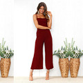 Women Summer Sexy Sleeveless Rompers 2021 Casual Loose Party Backless Office Overalls 5XL Jumpsuits dresses women lady elegant preview-5