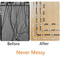 Cable Organizer Clips Cable Management Desktop & Workstation ABS Wire Manager Cord Holder USB Charging Data Line Bobbin Winder preview-2