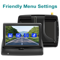 GreenYi Wireless 1080P 5 Inch Foldable IPS Car Monitor Reverse Rear View Camera Driving Kit with Stable Digital Signal preview-4