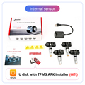 Jansite USB Android TPMS Car Tire Pressure Alarm Monitor System For vehicle Android player Temperature Warning with four sensors preview-5