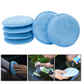 24PCS 5inch Car Waxing Sponge Blue Round Applicator Easy Cleaning Leather Polish Pad Foam Microfiber Universal Washable Reusable preview-6
