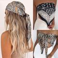 Luxury Brand Scarf Women Fashion Designer Beautiful Foulard Soft Satin Shawl Silk Kerchief 90*90cm Square Neck Headscarf Bandana preview-4