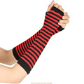 Fashion Women Lady Striped Elbow Gloves Warmer Knitted Long Fingerless Gloves Elbow Mittens Christmas Accessories Gift preview-4