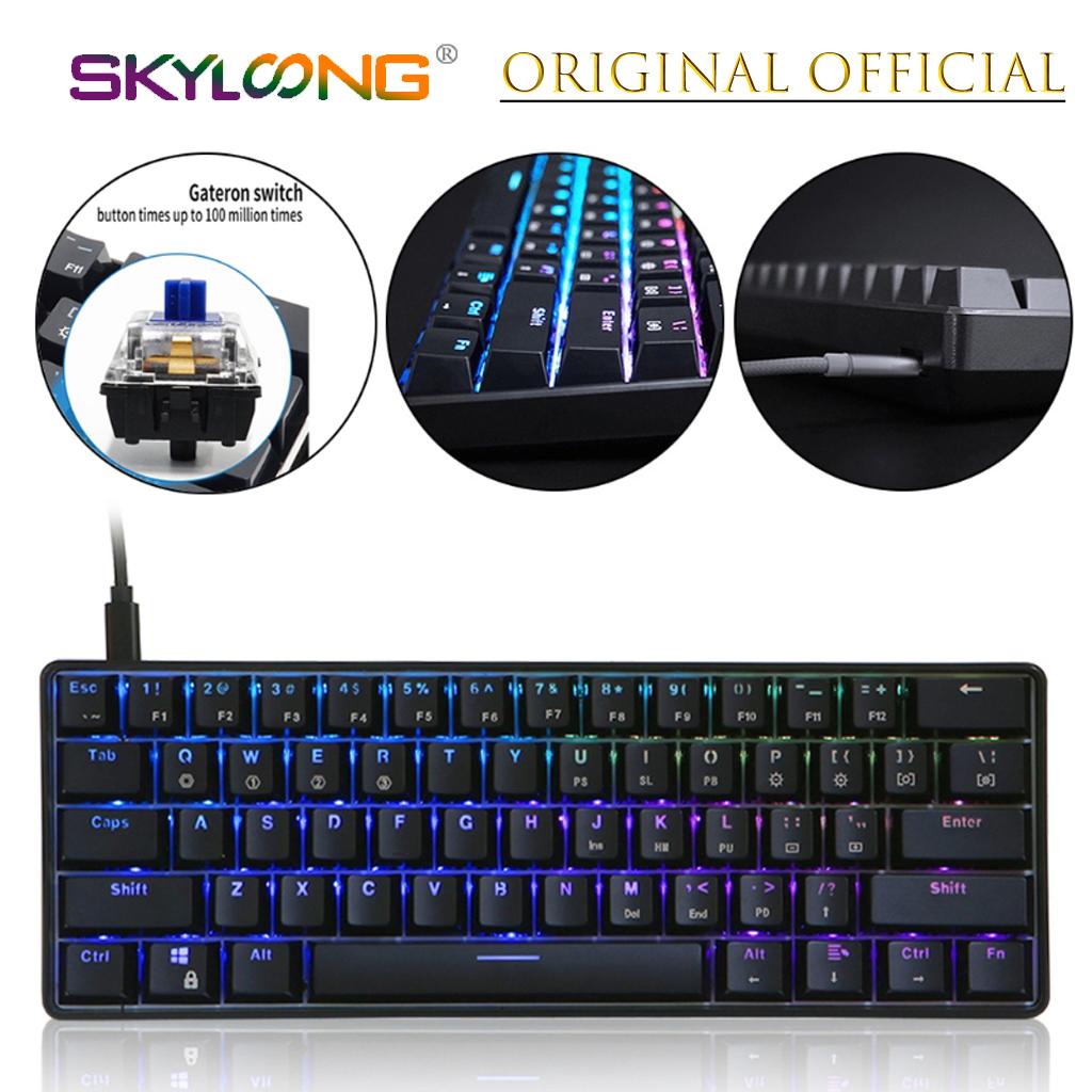 GK61 61 Key Mechanical Keyboard USB Wired LED Backlit Axis Gaming Mechanical Keyboard For Desktop Drop Shipping