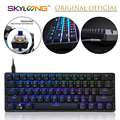 GK61 61 Key Mechanical Keyboard USB Wired LED Backlit Axis Gaming Mechanical Keyboard For Desktop Drop Shipping preview-1