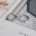 Adjustable Size Ring Sun Moon Couple Rings Minimalist Silver Color Opening Rings For Men Women Couple Engagement Jewelry Gift preview-3