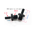 M4 M6 M8 M10 to 1/4  or 3/8 male to male Screw Mount Adapter for camera tripod camera photography accessories preview-5