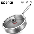 KOBACH frying pan 26cm honeycomb nonstick pan 304 stainless steel frying pan kitchen nonstick skillet frying pan with lid preview-1