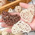 Photogragh Background Artificial Rattan Star Heart Straw Ornament Pendant Wedding Home Christmas Decoration Photo Props preview-4