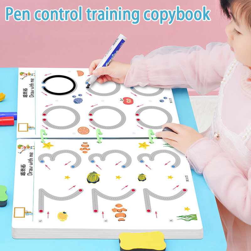 Magical Tracing Workbook Reusable Calligraphy Copybook Practice Drawing Book Toddler Learning EDUC BOOK For KID CHILD TOY