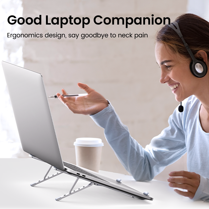 UGREEN Laptop Stand Holder For Macbook Air Pro Foldable Aluminum Vertical Notebook Stand Laptop Support Macbook Pro Tablet Stand preview-2