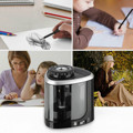 NEW 1PCS Electric Auto Pencil Sharpener Safe Student Helical Steel Blade Sharpener for Artists Kids Adults Colored Pencils preview-2