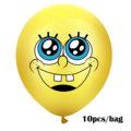 10Pcs Sponge Party Supplies Boy or Girl Bob Latex Balloons Happy Birthday Cartoon Theme Decoration Kids Ballon Party Decor preview-2