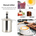 400/800ML Manual Milk Frother Stainless Steel cappuccino Milk Creamer Milk Foam Mesh Coffee Foamer Creamer Kitchen Applicance preview-4