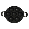 7-Hole Cake Cooking Pan Cast Iron Omelette Pan Non-Stick Cooking Pot Breakfast Egg Cooking Pie Cake Mold Kitchen Cookware Tool preview-2