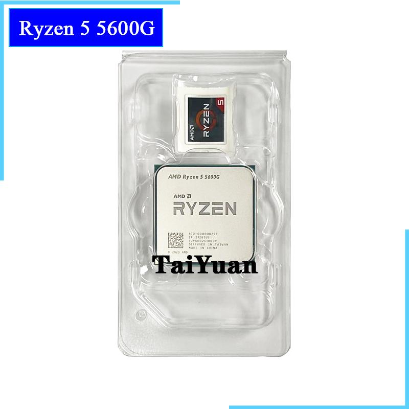 AMD Ryzen 5 5600G R5 5600G 3.9GHz Six-Core Twelve-Thread 65W CPU Processor L3=16M 100-000000252 Socket AM4 new but no fan
