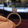 Fashion Women Jewelry Ring Elegant Crystal Rhinestones Ring For Women Accessories Bride Wedding Party Ring Gift preview-3