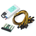 1200W Server Power Supply LED Breakout Board + 6Pin Male to (6+2)8P Male Power Supply Cables Adapter Kits for HP DL580 G5 PSU preview-2