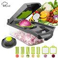 Vegetable Cutter Vegetable Slicer Fruit Peeler Grater for Vegetables Chopper Multi Drain Basket 8 In 1 Kitchen Gadgets preview-1