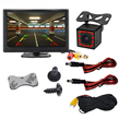 5 Inch Car Monitor TFT LCD Digital 800*480 16:9 Screen 2 Way Video Input or with Reverse Rear View Camera for Parking preview-2
