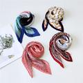 Small Square Silk Scarf Women Fashion Crinkle Crumple Satin Neck Scarves Ladies Pleated Foulard Femme Shawl Bandana Handkerchief preview-3