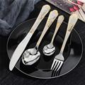 Upspirit 16 Pcs Gold Stainless Steel Tableware Cutlery Set Spoon Knives Forks Dinnerware Flatware Set Silverware Kitchen Kit preview-3