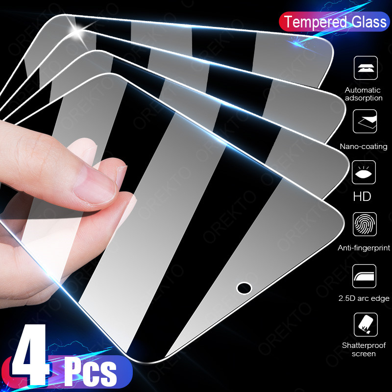 4PCS Tempered Glass For Samsung Galaxy A51 A50 A71 A70 A52 A72 A80 A40 A60 S Screen Protector For Samsung A31 A01 A20E M51 Glass