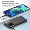 KUULAA Power Bank 10000mAh Portable Charging PowerBank 10000 mAh USB PoverBank External Battery Charger For Xiaomi Mi 9 8 iPhone preview-3