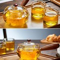 High Quality Borosilicate Glass Teapot Green Tea Heat Resistant Tea Kettle Creative Coffee Pot Sets With Infuser Strainer preview-2