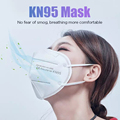 100 pieces KN95 face mask 5 layer filter dust port PM2.5 mascarillas FFP2 Nonwoven health Protective N95 mask fast delivery preview-5