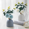 Modern Plastic Vase Home Decor European Imitation Ceramic Rattan Flower Arrangement Nordic Wedding Decorations Unbreakable Pot preview-4