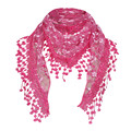 Women Lace Sheer Floral Knit Veil Scarf Hollow Out Crochet Shawl Wraps Tassels Scarves Party Evening Wrap Scarf Ladies New preview-5