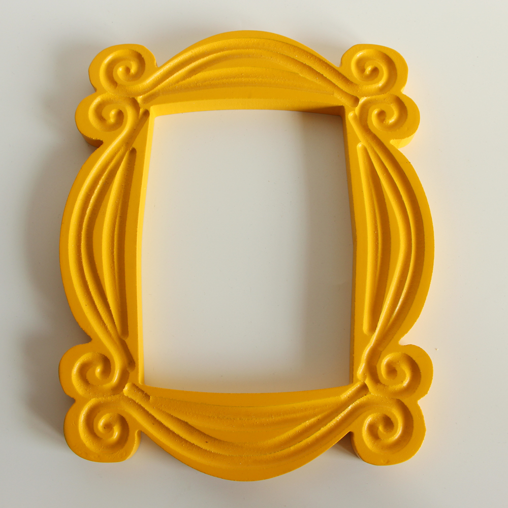 TV Series Friends Handmade Monica Door Frame Wood Yellow Photo Frames Collectible for Home Decor