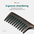 MR.GREEN Natural Wood Comb Wide Tooth Wet  Hair Combs Anti-Static Styling Comb for Long Hair Head acupuncture point massage preview-4