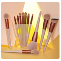 13pcs Professional Makeup Brush Set Soft Fur Beauty Highlighter Powder Foundation Concealer Multifunctional Cosmetic Tool Makeup preview-3
