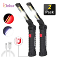 Portable COB LED Flashlight USB Rechargeable Work Light  Magnetic Lanterna Hanging Lamp with Built-in Battery Camping Torch preview-1