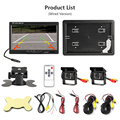 Jansite Universal 7-inch Wired Car monitor TFT Auto Rear View Monitor Parking Assistance Security System Backup Camera For Truck preview-6
