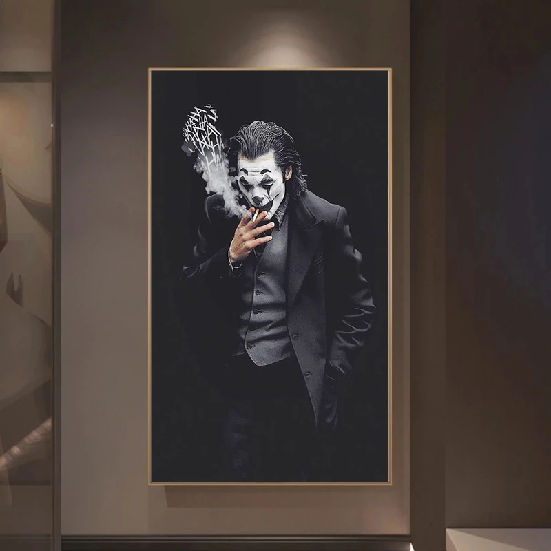 Joker Joaquin Phoenix Canvas Painting Comics Movie Posters And Prints Cuadros Wall Art Pictures For Living Room Home Decoration