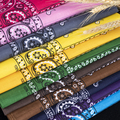 In Stock Cheap Wholesale Multi Colors Headwear Scarf Paisley Polyester Cotton Square Custom Logo Printed Bandana Handkerchief preview-2