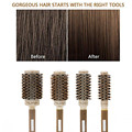 4 Sizes Professional Salon Styling Tools Round Hair Comb Hairdressing Curling Hair Brushes Comb Ceramic Iron Barrel Comb 20#826 preview-3