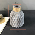 Modern Plastic Vase Home Decor European Imitation Ceramic Rattan Flower Arrangement Nordic Wedding Decorations Unbreakable Pot preview-6