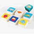 108pcs Kids Baby Learning Education Cognitive Cards Fruit Animal Visual Excitation Montissori Toys English Chinese Flashcards preview-1