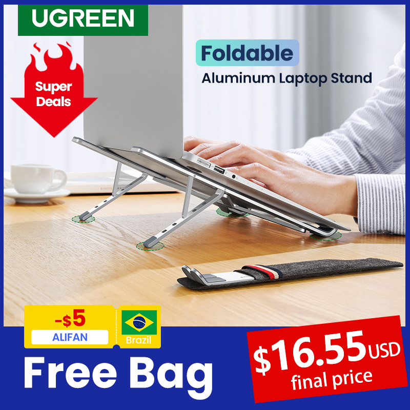 UGREEN Laptop Stand Holder For Macbook Air Pro Foldable Aluminum Vertical Notebook Stand Laptop Support Macbook Pro Tablet Stand preview-7